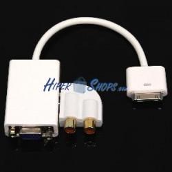 Adaptador audio y VGA para Apple iPad iPod iPhone 30pin