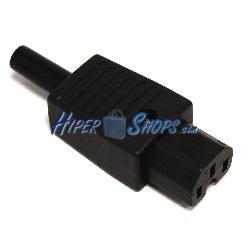 Clavija IEC-60320 C15 (Recto Hembra Negro)