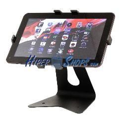 Peana metálica para tableta Android y iPad universal