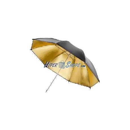 Paraguas reflector dorado para fotografía de 140cm