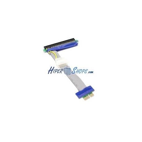 Cable extensión PCIe 16X 1X 19cm con alimentación riser card
