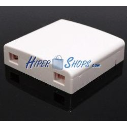 Caja de conexiones para fibra óptica de 2 puertos LC SC