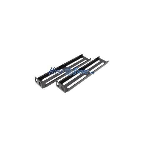 Pestañas metálicas para rack19 1U doble canal