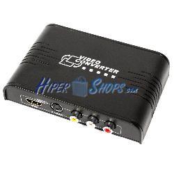 Conversor de vídeo compuesto CVBS y SVHS a HDMI con audio estéreo