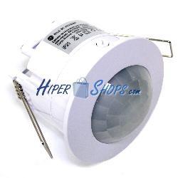 Detector de movimiento por infrarojos de techo empotrable color blanco