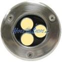 Foco LED de suelo 3W 90mm luz blanco cálida