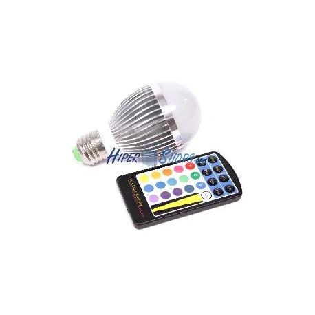 Bombilla led rgb 5w con mando a distancia hiper electr n for Bombillas led con mando a distancia