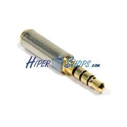 Adaptador audio 4pin jack 3.5mm macho a jack 2.5mm hembra