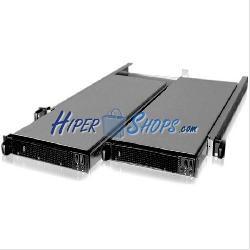 Caja ATX rack19 1U F545 4x3.5 para 2 Atom Mini-ITX extraible de RackMatic