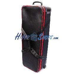Bolsa de transporte para material fotográfico 105x38x23cm con carrito
