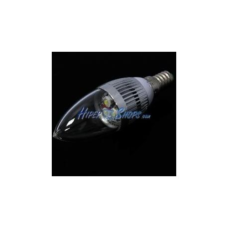 Bombilla LED C35 E14 230VAC 3W luz cálida
