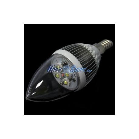 Bombilla LED C35 E14 230VAC 4W luz día