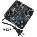 """Ventilador de techo para armario rack 19"""" de 120mm 220VAC"""