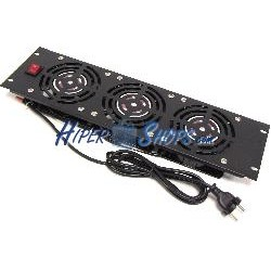 """Kit de ventilación para rack 19"""" de 3U y 3 ventiladores"""