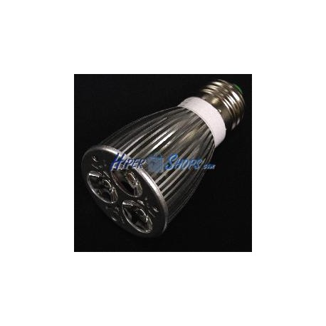 Bombilla LED dicroica E27 230VAC 9W 60° 50mm luz cálida