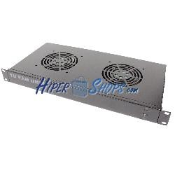 """Kit ventilación para rack 19"""" 1U de 2 ventiladores de 120mm"""