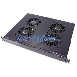 """Kit ventilación para rack 19"""" 1U de 4 ventiladores de 120mm"""