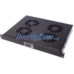 """Kit ventilación con termostato para rack 19"""" de 4 ventiladores de 120mm"""