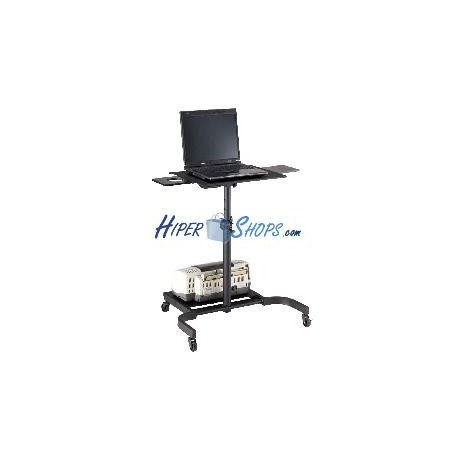Carrito auxiliar para proyector notebook impresora con for Carrito auxiliar con ruedas