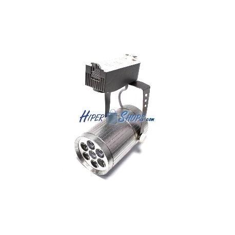 Foco LED de rail 7W blanco frío día 80x110mm plata