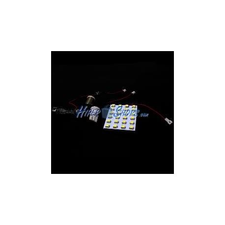 Bombilla coche LED festoon C5W T10 W5W BA9S 24x1210SMD 38x32mm plano