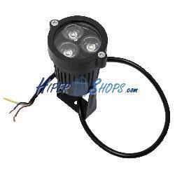 Foco LED 3W blanco frío día 60x78mm IP65 para exteriores