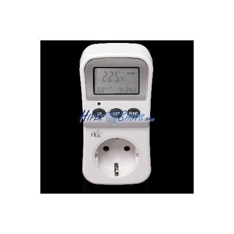 Medidor de consumo eléctrico tipo enchufe
