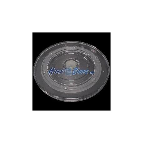 Base rotatoria manual d150mm h12mm transparente
