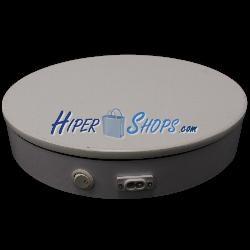 Base giratoria eléctrica d30cm h6cm blanco