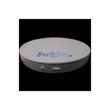 Base giratoria eléctrica d50cm h6cm blanco