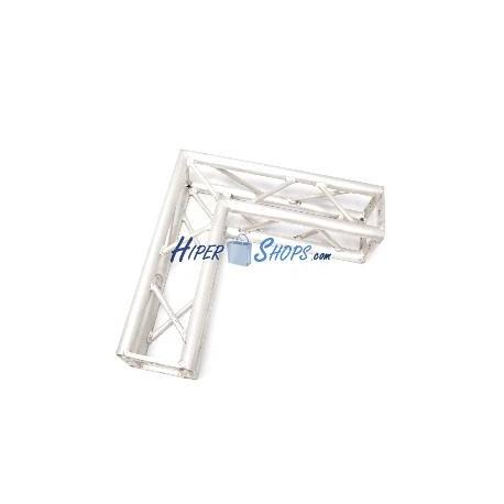Truss cuadrado de aluminio plata 150mm ángulo 90-grados