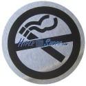 Señal prohibido fumar de acero inoxidable de 65mm
