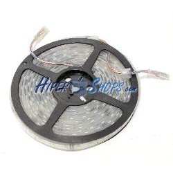 Tira de LEDs flexible 13 lm/led 60 led/m de 5m IP68 blanco bicolor