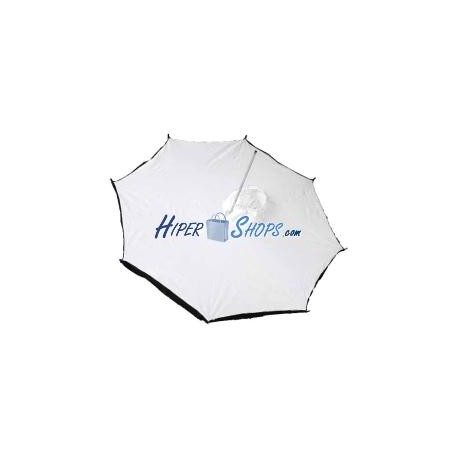 Paraguas reflector plateado con filtro de 180 cm