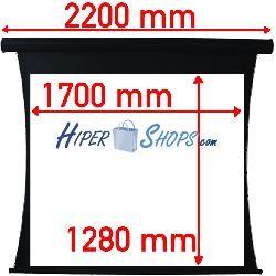 Pantalla de proyección tensionada motor de 1700x1280mm 4:3 DisplayMATIC PRO