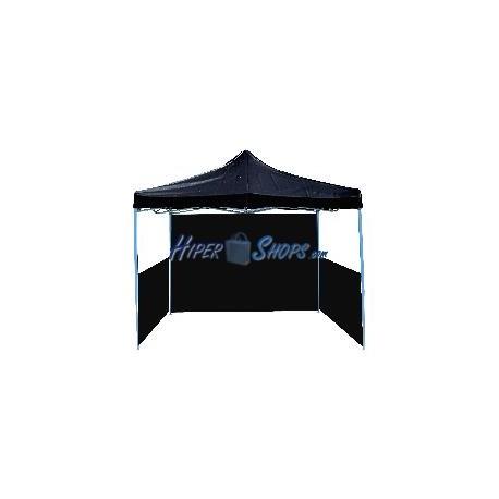 Carpa plegable 300x450cm negra con fondo y laterales