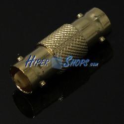 Conector dorado BNC RG6U hembra-hembra empalme