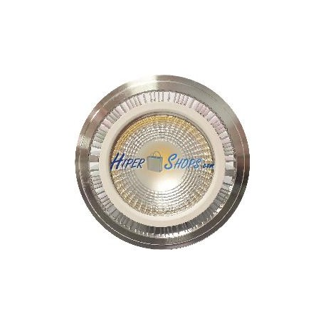 Downlight empotrable LED-COB 15W 95mm plateado blanco cálido 3000K