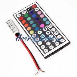 Controlador para tira de LEDs RGB de 6A 12VDC con control remoto IR modelo compacto