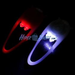 Faro LED para bicicleta frontal blanco y trasero rojo fabricado en silicona flexible