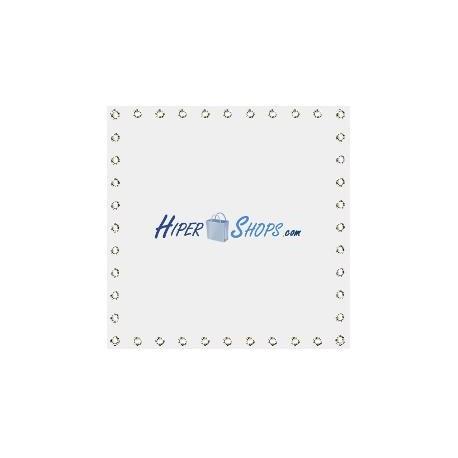Tela de proyección de 100x100cm 1:1 PVC blanco para eventos y presentaciones