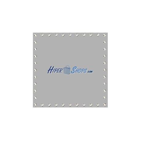 Tela de proyección de 200x200cm 1:1 PVC gris para eventos y presentaciones