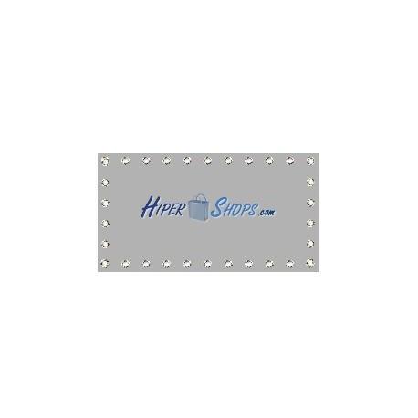Tela de proyección de 100x54cm 16:9 PVC gris para eventos y presentaciones