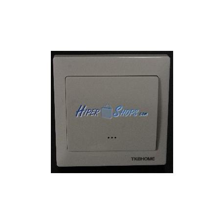 Interruptor 80x80mm inalámbrico Z-Wave 6A 230VAC blanco simple