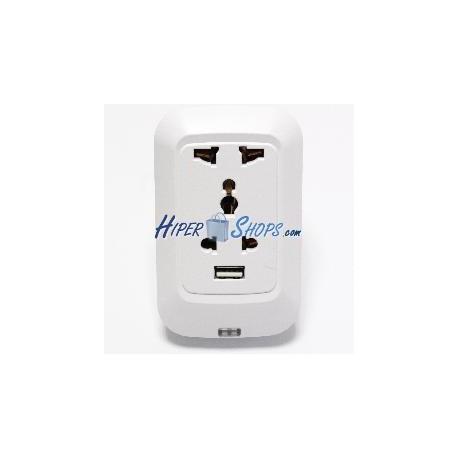 Enchufe eléctrico por WiFi Socket con USB universal 220VAC 10A