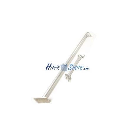Tubo de soporte a suelo para truss de diámetro 30mm y largo 100cm