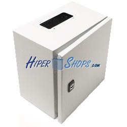 Caja de distribución eléctrica metálica con protección IP65 para fijación a pared 300x300x200mm