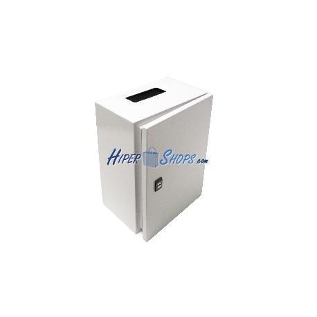 Caja de distribución eléctrica metálica con protección IP65 para fijación a pared 500x300x200mm