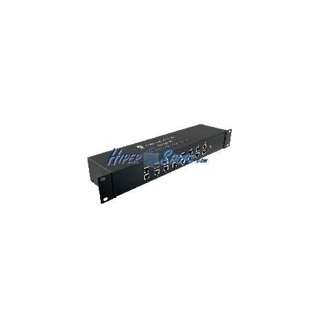 Protector de sobretensión teléfono RJ11 RJ12 10KA 110V 16-puerto 4-pin rack 19&quot-