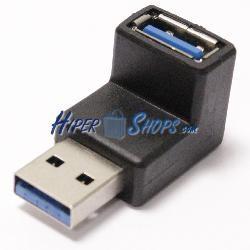 Adaptador USB 3.0 A-macho a A-macho con ángulo